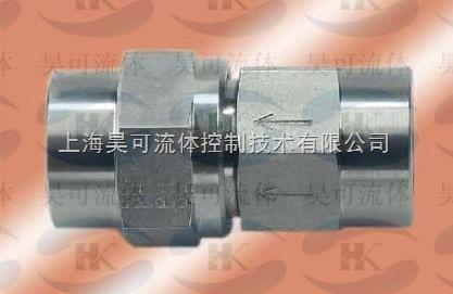 不锈钢单向阀耐温-35-200度,接口为英制直管内螺纹图片