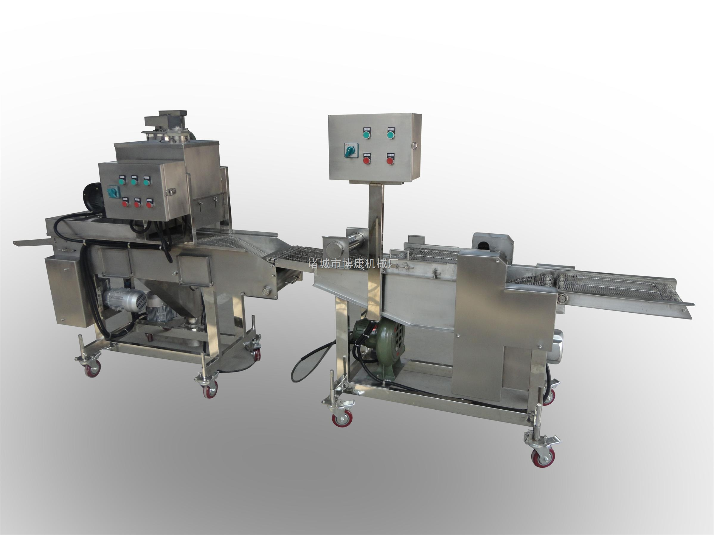 不锈钢自动食品上浆机、连续式裹浆裹粉