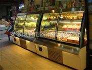 欧式弧形蛋糕柜,欧式风冷柜,白色前开门风冷柜,欧式豪华蛋糕柜