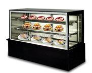 日式直角蛋糕柜,白色日式风冷柜,黑色日式风冷柜,蛋糕展示柜