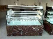 北京新凌制冷厂家直销豪华紫罗红理石立式开放式三明治展示柜